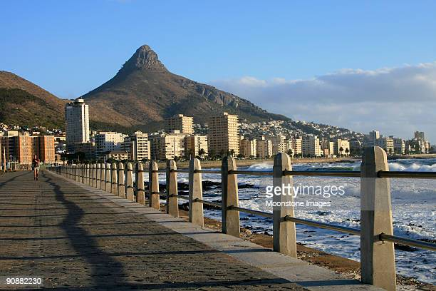 lion's head in cape town, south africa - waterfront stock pictures, royalty-free photos & images