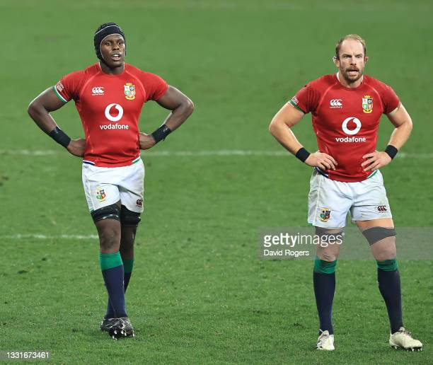Lions locks Maro Itoje and Alun Wyn Jones look on during the 2nd test match between es upfield South Africa Springboks and the British & Irish Lions...