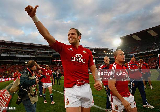 Lions player AlunWyn Jones waves to the crowd after the Third Test match between South Africa and The British and Irish Lions at Ellis Park Stadium...