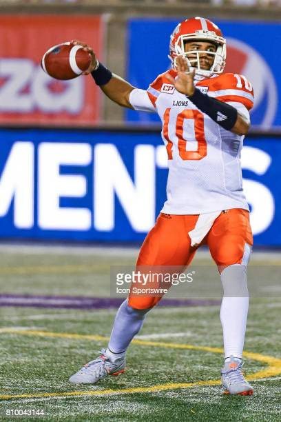 Lions quarterback Jonathon Jennings about to pass the ball during the BC Lions versus the Montreal Alouettes game on July 6 at Percival Molson...