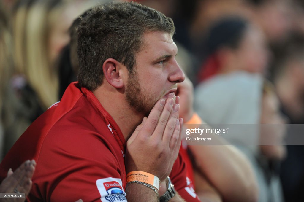 Lions supporters after loosing to Crusaders during the Super Rugby Final match between Emirates Lions and Crusaders at Emirates Airline Park on August 05, 2017 in Johannesburg, South Africa.