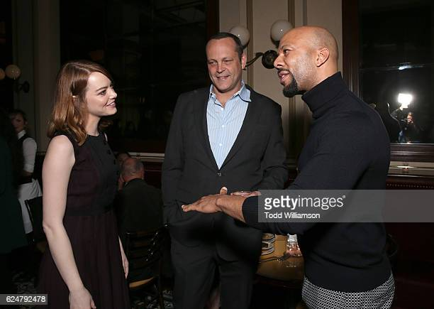 Lionsgate Bulleit Bourbon Host Holiday Party with Emma Stone of 'La La Land' Vince Vaughn of 'Hacksaw Ridge' and Common from 'John Wick 2' at Bouchon...