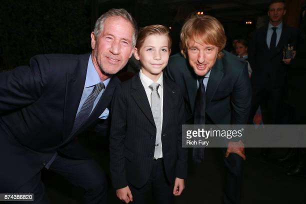 Lionsgate CEO Jon Feltheimer Jacob Tremblay and Owen Wilson attend the after party for the premiere of Lionsgate's 'Wonder' on November 14 2017 in...