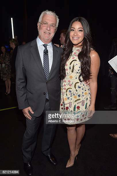 """Lionsgate CoChairman Rob Friedman and actress Gina Rodriguez attend CinemaCon 2016 """"Experience the Magic of Lionsgate' A 2016 Sneak Peek and Special..."""
