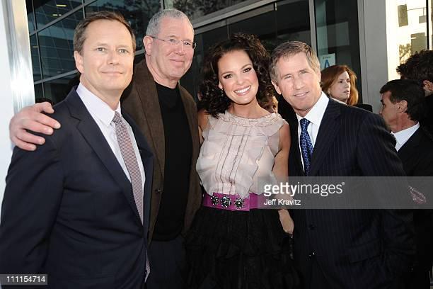 Lionsgate's Michael Burns, Exec. Producer Michael Paseornek, Actress Katherine Heigl and Lionsgate CEO Jon Feltheimer arrive at the Los Angeles...