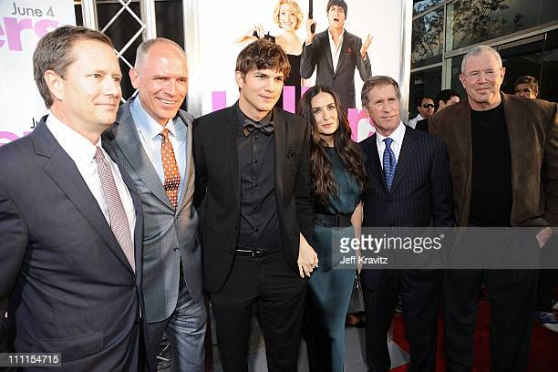 Lionsgate's Michael Burns, President of the Motion Picture Group and co-COO, Joe Drake, Actor Ashton Kutcher, Actress Demi Moore, Lionsgate CEO Jon...