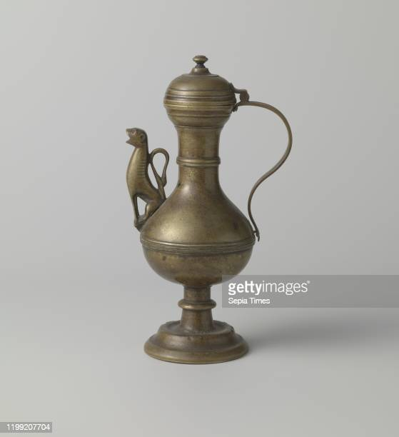 Lionshaped spout The can is composed of the following parts the foot the trunk the neck the handle the hinge part that replaces the thumb rest the...