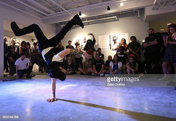Lionz of Zion from Washington DC perform 'Dark Matter' by Jefferson Pinder at the PRIZM art fair in the Little Haiti art district during Art Basel...