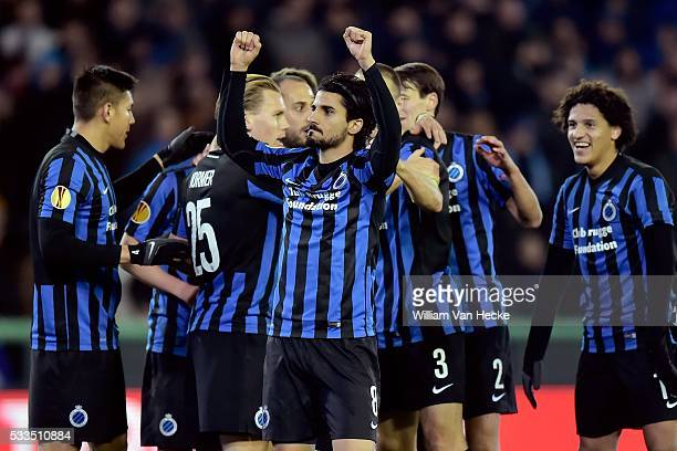 Lior Refaelov of Club Brugge celebrates scoring a goal during the UEFA Europa League group B match between between Club Brugge and HJK Helsinki at...