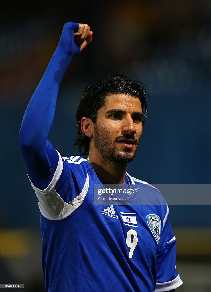 Lior Refaelov of Israel celebrates after the FIFA 2014 World Cup Group F Qualifier match between Northern Ireland and Israel at Windsor Park on March 26, 2013 in Belfast, Northern Ireland.