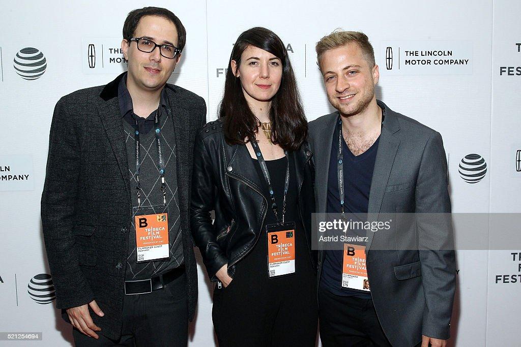 Lior Zalmanson, Noa Biron, and Ben Hakim attend the 2016 Tribeca Film Festival Shorts: New York Then at Regal Battery Park Cinemas on April 14, 2016 in New York City.