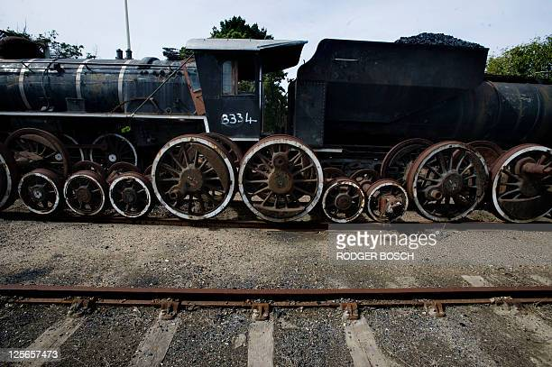 One of the now rusting steam locomotives that used to pull the Outeniqua Choo tjoe on August 29 sits out in the open close to Mossel Bay The...