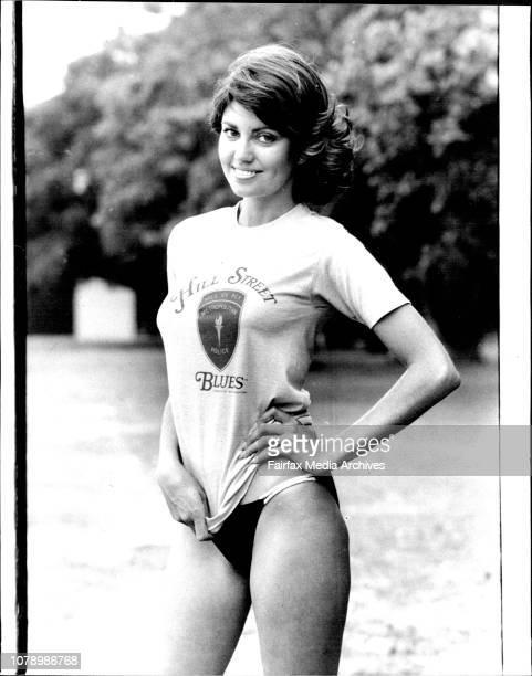 Liovely Karen Pini wearing the Sun T Shirt November 15 1983