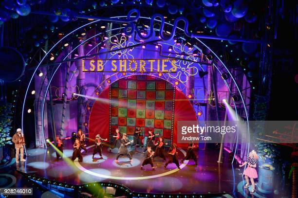 Lip Sync Battle Shorties Crew perform onstage at the Nickelodeon Upfront 2018 at Palace Theatre on March 6 2018 in New York City