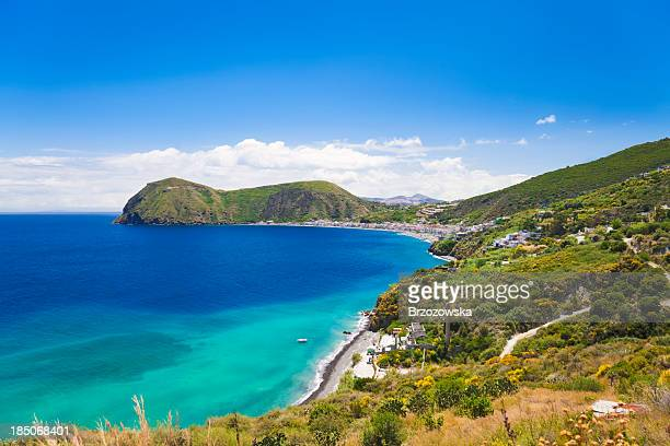 lipari island (aeolian islands, sicily, italy) - aeolian islands stock pictures, royalty-free photos & images