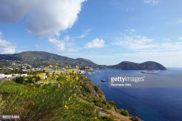 Lipari - Panoramic view of Marina Corta bay