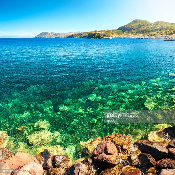 lipari - isole eolie foto e immagini stock