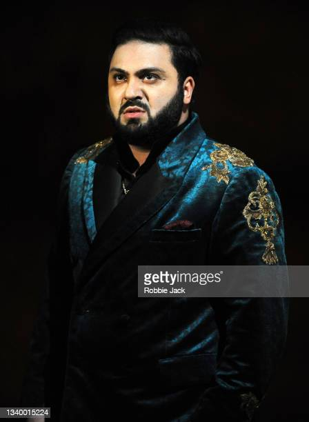 Liparit Avetisyan as Duke of Mantua in Giuseppe Verdi's Rigoletto directed by Oliver Mears and conducted by Antonio Pappano at The Royal Opera House...
