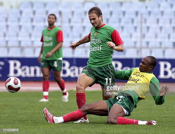 Lipatin and Gregory in action during Maritimo training session in Funchal Portugal on January 25 2007