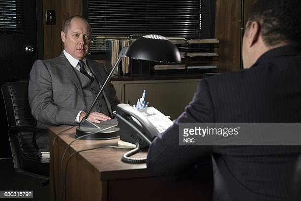 THE BLACKLIST Lipet's Seafood Company Episode 409 Pictured James Spader as Raymond Red Reddington Harry Lennix as Harold Cooper