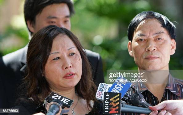 Liping Wu , the mother of murdered victim Liao Elva Wei