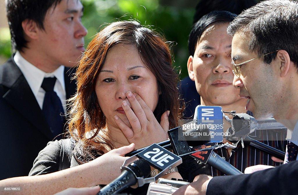Liping Wu , the mother of murder victim Liao Elva Wei of