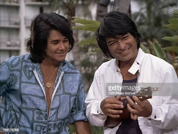Lippy Espinda as Hanalei and Don Ho as himself in THE BRADY BUNCH episode 'Hawaii Bound' Original air date September 22 1972 Image is a screen grab