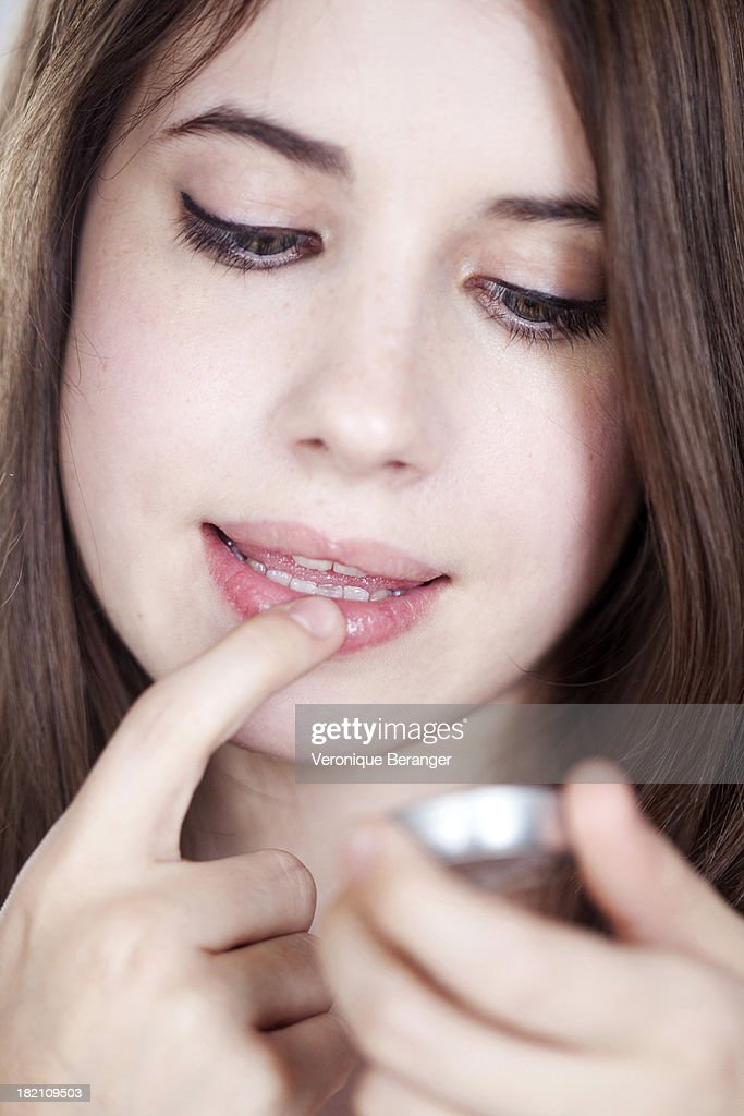 Lips care : Stock Photo