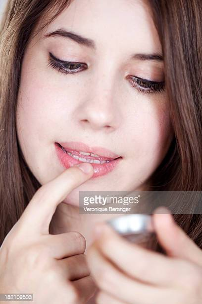 lips care - lip balm stock pictures, royalty-free photos & images