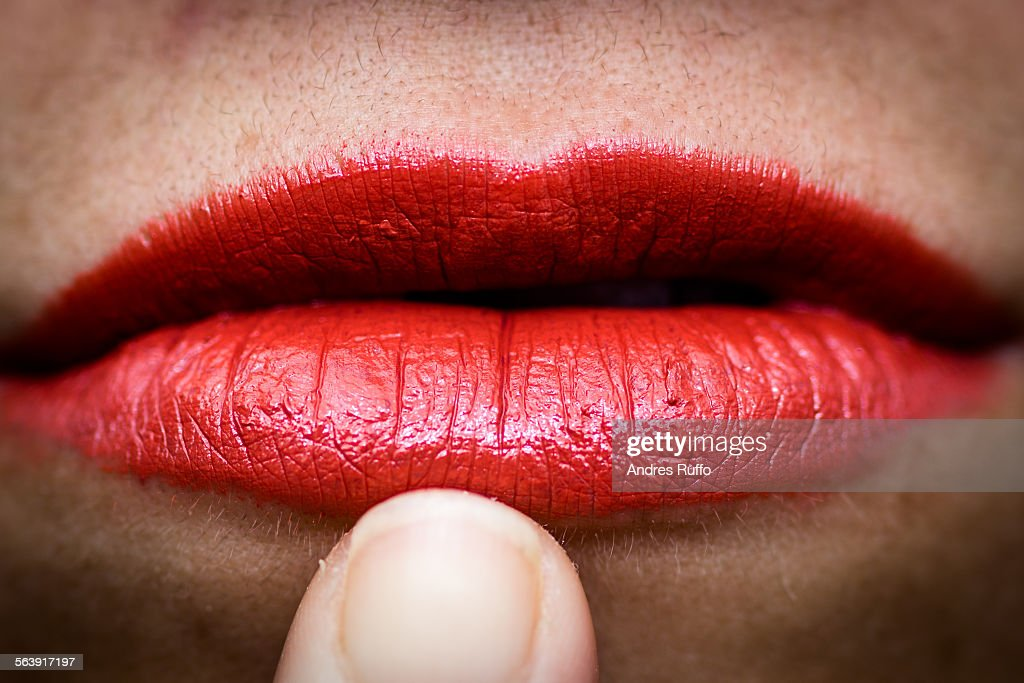 Lips Close-up : Stock Photo