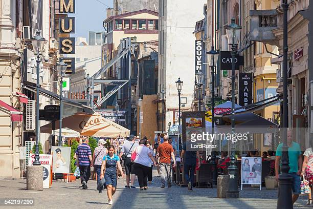 lipscani street, bucharest - bucharest stock pictures, royalty-free photos & images