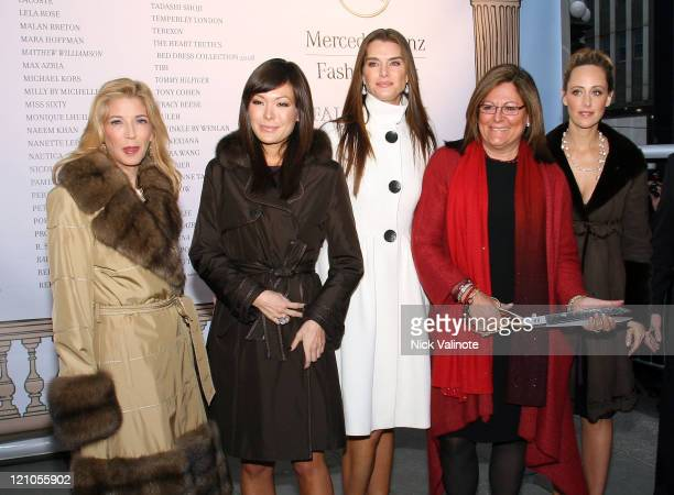 Lipstick Jungle author/series executive producer Candace Bushnell, actress Lindsay Price, actress Brooke Shields, actress Kim Raver, Fashion Senior...