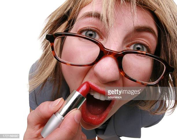 lipstick just ain't gonna help... - very ugly women stock photos and pictures