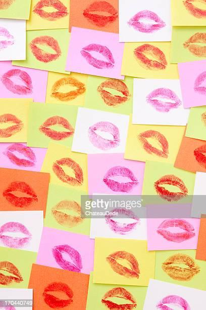 Lippenstift Küsse Hintergrund