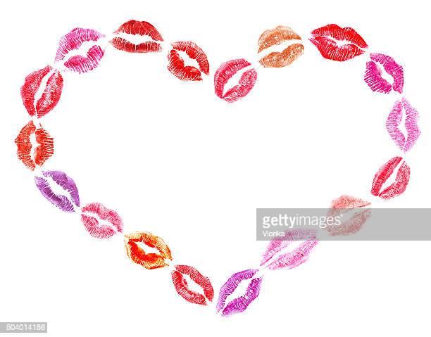Lipstick kisses heart