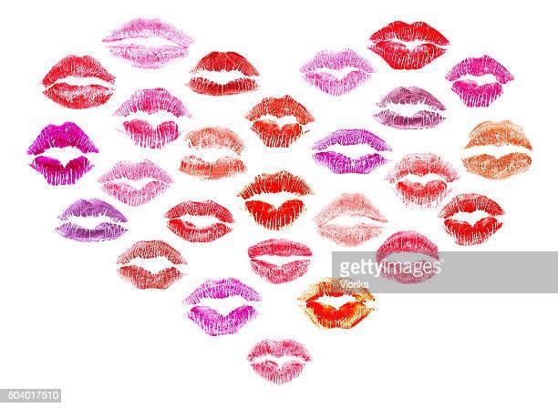 Lippenstift Küsse Herz