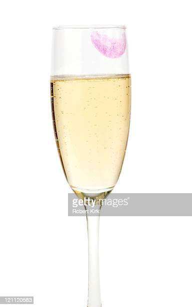 lipstick on wine flute - lipstick stock pictures, royalty-free photos & images