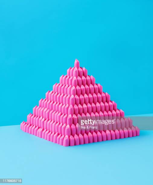 lipstick pyramid - lipstick stock pictures, royalty-free photos & images
