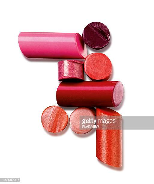 lipsticks - lipstick stock pictures, royalty-free photos & images