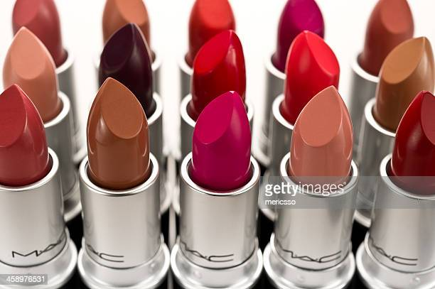 mac lipsticks - lipstick stock pictures, royalty-free photos & images