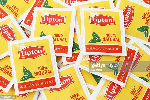 lipton tea bags - black tea stock pictures, royalty-free photos & images