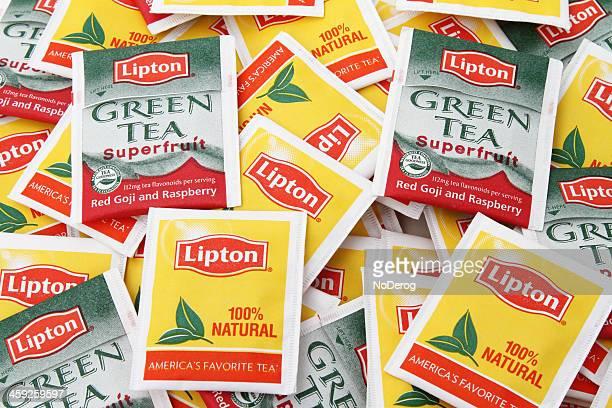 Thé Lipton sacs et GreenTea régulière