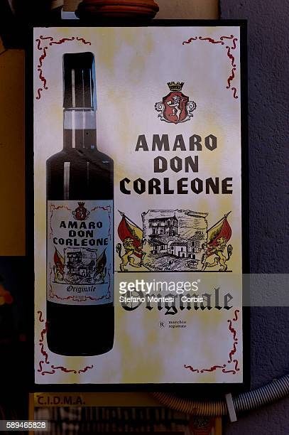 A liquer named after the primary character 'Don Corleone' in the movie 'Il Padrino' is advertised on August 11 2016 in Corleone Italy The local...