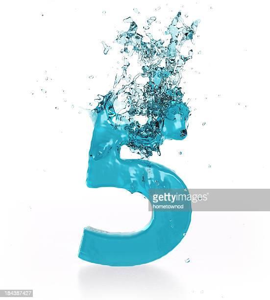 Liquid Zahl 5
