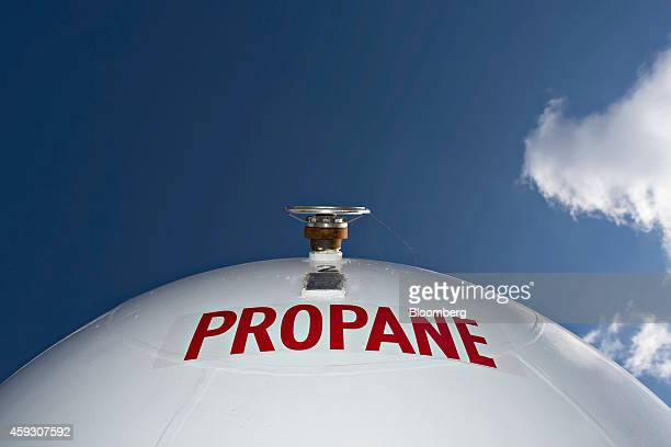 A liquid propane storage tank sits outside at Michlig Energy in Manlius Illinois US on Thursday Nov 20 2014 Propane shortages last winter that left...