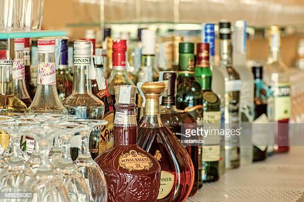 Liquor on display