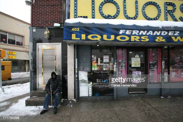 Liquor store in New York's South Bronx.