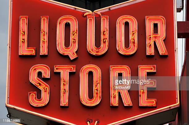 liquor store sign - liquor store stock pictures, royalty-free photos & images