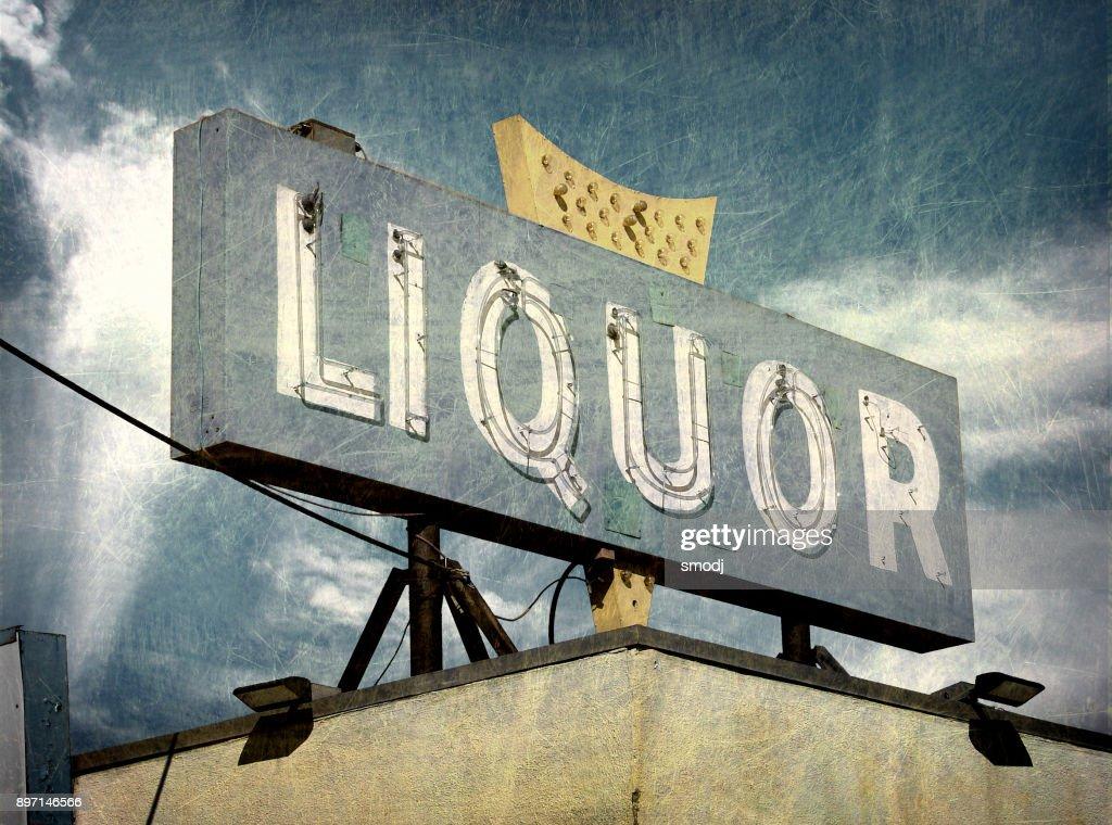 liquor store sign : Stock Photo
