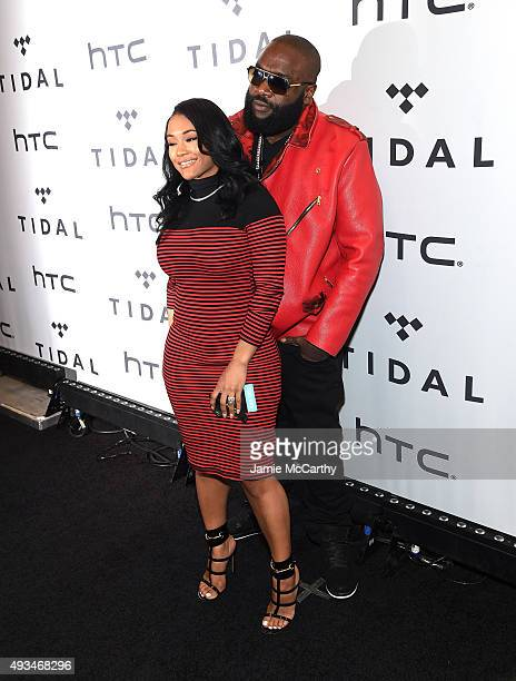 Lira Galore and rapper Rick Ross attend TIDAL X 1020 Amplified by HTC at Barclays Center of Brooklyn on October 20 2015 in New York City